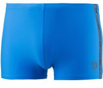 'Hyper' Kastenbadehose blau / dunkelgrau