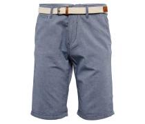 Shorts taubenblau / braun / weiß