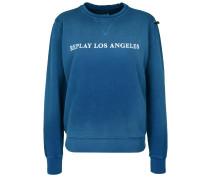 Sweatshirt 'los Angeles' blau / weiß