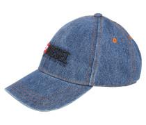 Cap blue denim / rot
