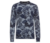 Pullover 'Classic cotton melange crewneck pull with all-over pattern'