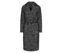 Woll Mantel schwarzmeliert