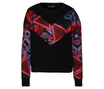 Sweatshirt violettblau / schwarz