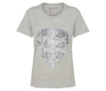 T-Shirt 'pic Crew' grau / dunkelgrau