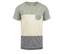 T-Shirt 'Johannes' grün / grünmeliert
