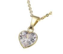Halskette »Herz« gold / weiß