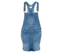 Kurzes Jeans-Latzkleid blue denim