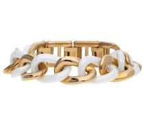 Armband 'Ceramia' rosegold / weiß