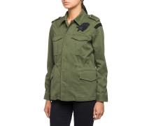 Utility-Jacke mit Patches grün