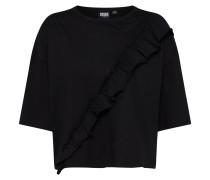 Shirt 'Volant' schwarz