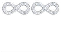 Ohrringe 'Infinity' silber / weiß