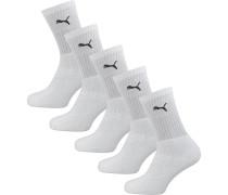 6 Paar Socken Crush Crew schwarz / weiß