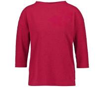 T- Shirt mit Jacquardstruktur rubinrot