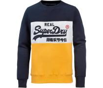 Sweatshirt navy / honig / weiß