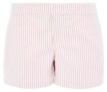 Baumwoll-Shorts rosa / weiß
