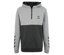 Sweatshirt 'ronny Hoodie' grau / khaki
