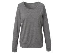 Langarm-Shirt 'elegant Melange' graumeliert