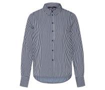 Bluse nachtblau / weiß