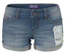 Jeanshortpants 'Patch' blue denim