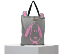 Shopper hellgrau / pink
