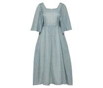 Kleid himmelblau / weiß