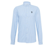 Slim-Hemd 'Konrad' blau / weiß