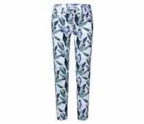 Jeans Mi:ra grün / weiß / blau