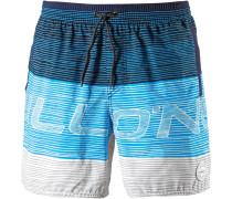 'Stacked' Badeshorts blau