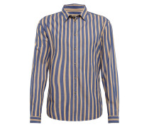 Hemd 'ruben' beige / blau