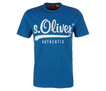 T-Shirt himmelblau / weiß