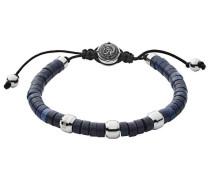 Armband blau / schwarz / silber