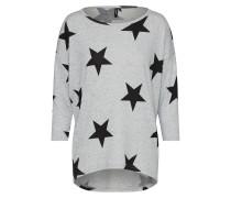 Shirt 'malena' hellgrau / schwarz