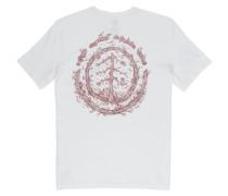 T-Shirt 'Too Late' hellbraun / weiß
