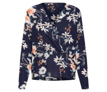 Bluse 'new Floral' navy / pastellpink