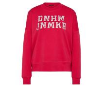 Sweater mit Logoschriftzug rot