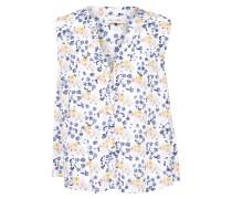 Ärmellose Bluse 'Jenn' blau / weiß