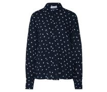 Bluse 'Floretta' nachtblau / weiß