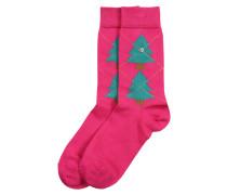 Socken 'Tannenargyle DA' rosa