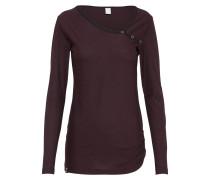 Shirt 'Stripy Asym' burgunder / schwarz