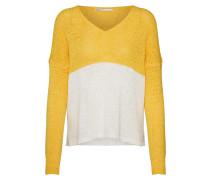 Pullover 'New Gabbi' gelb / weiß