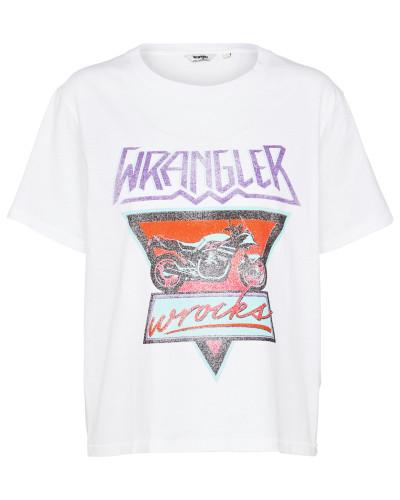 T-Shirt 'Boxy' mischfarben / weiß