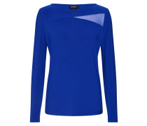 Shirt 'l/s Boat Neck TOP W/ Mesh Details'