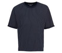 T-Shirt 'RN Batwing Pin' navy / weiß