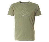 T-Shirt 'Faro' apfel / weiß
