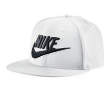 True-Snapback Cap schwarz / weiß