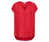 Bluse rot / schwarz / weiß