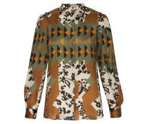 Bluse beige / braun / grün / orange