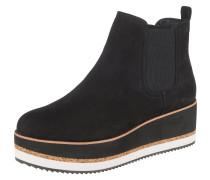 Chelsea Boots braun / schwarz / weiß