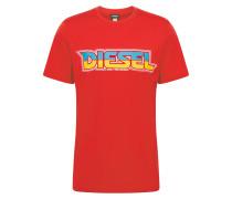 Shirt 'Just-B' türkis / gelb / neonrot