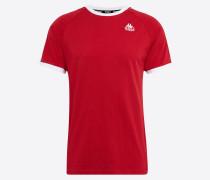 T-Shirt 'autin' rot / schwarz / weiß